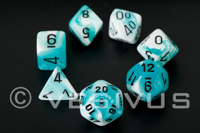 Gemini Teal & White, 16mm Set
