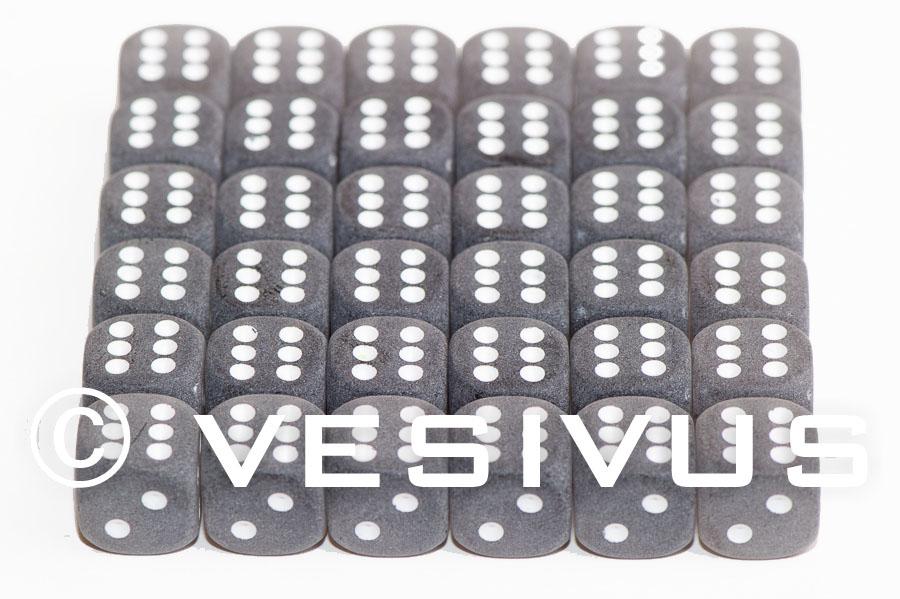 DICE Chessex Frosted PURPLE Mini 36d6 d6 Block Set Plastic 12mm le435
