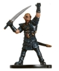 D&D Miniatures - Click to view the stats for Half-Elf Hexblade Miniature
