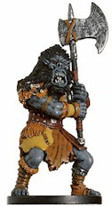 D&D Miniatures - Click to view the stats for Mountain Orc Miniature