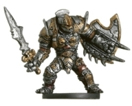 D&D Miniatures - Click to view the stats for Warforged Hero Miniature
