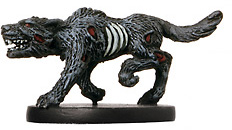 D&D Miniatures - Click to view the stats for Gravehound Miniature