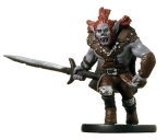 D&D Miniatures - Click to view the stats for Half-Orc Barbarian Miniature