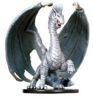 D&D Miniatures - Click to view the stats for Large Silver Dragon Miniature