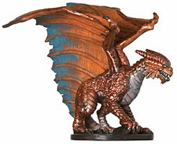 D&D Miniatures - Click to view the stats for Large Copper Dragon Miniature