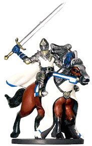 D&D Miniatures - Click to view the stats for Mounted Paladin Miniature