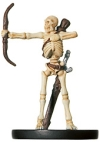 D&D Miniatures - Click to view the stats for Skeletal Archer Miniature