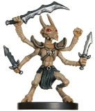 D&D Miniatures - Click to view the stats for Thri-Kreen Barbarian Miniature
