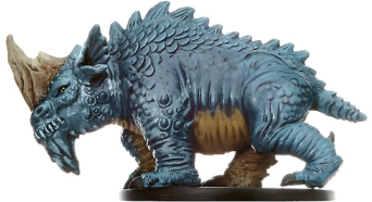 D&D Miniatures - Click to view the stats for Bluespawn Stormlizard Miniature