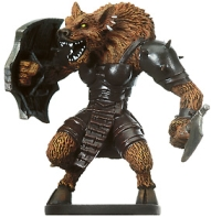 D&D Miniatures - Click to view the stats for Demonic Gnoll Priestess Miniature