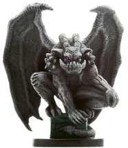 D&D Miniatures - Click to view the stats for Earth Elemental Gargoyle Miniature