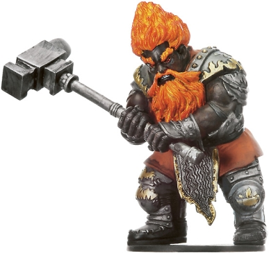 D&D Miniatures - Click to view the stats for Fire Giant Forgepriest Miniature