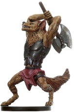 D&D Miniatures - Click to view the stats for Gnoll Barbarian Miniature