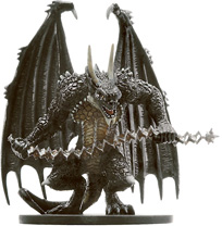 D&D Miniatures - Click to view the stats for Horned Devil Miniature