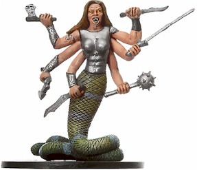 D&D Miniatures - Click to view the stats for Marilith Miniature