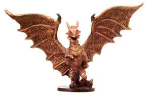 D&D Miniatures - Click to view the stats for Medium Copper Dragon Miniature