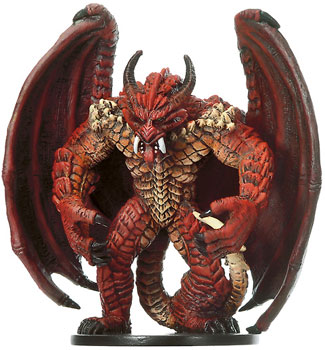 D&D Miniatures - Click to view the stats for Pit Fiend Miniature