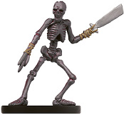D&D Miniatures - Click to view the stats for Boneshard Skeleton Miniature