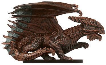 D&D Miniatures - Click to view the stats for Capricious Copper Dragon Miniature