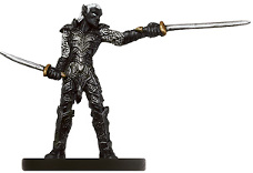D&D Miniatures - Click to view the stats for Drow Blademaster Miniature