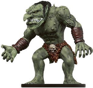 D&D Miniatures - Click to view the stats for Feral Troll Miniature