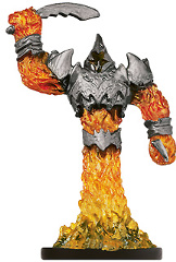 D&D Miniatures - Click to view the stats for Fire Archon Miniature
