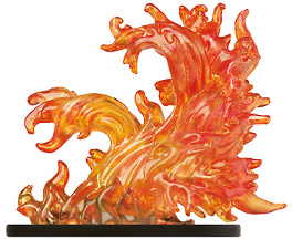 D&D Miniatures - Click to view the stats for Large Fire Elemental Miniature