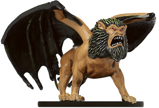 D&D Miniatures - Click to view the stats for Manticore Sniper Miniature