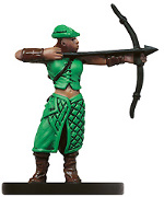 D&D Miniatures - Click to view the stats for Militia Archer Miniature