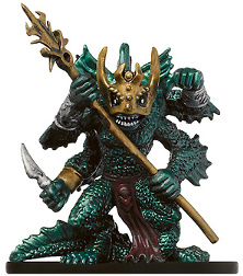 D&D Miniatures - Click to view the stats for Sahuagin Baron Miniature