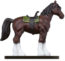 D&D Miniatures - Click to view the stats for Warhorse Miniature