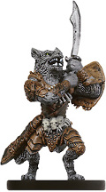 D&D Miniatures - Click to view the stats for Werewolf Champion Miniature