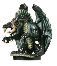 D&D Miniatures - Click to view the stats for Black Dragon (Young) Miniature