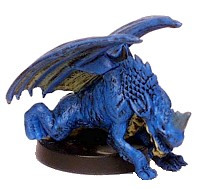 D&D Miniatures - Click to view the stats for Blue Wyrmling Miniature