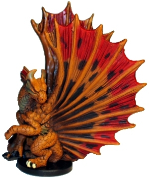 D&D Miniatures - Click to view the stats for Brass Dragon Miniature