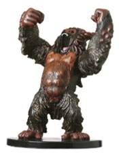 D&D Miniatures - Click to view the stats for Dire Ape Miniature