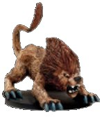 D&D Miniatures - Click to view the stats for Dire Lion Miniature
