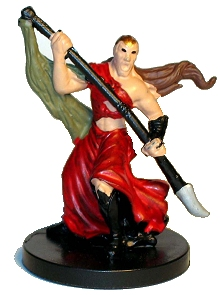 D&D Miniatures - Click to view the stats for Half-Elf Sorcerer Miniature