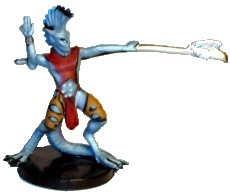 D&D Miniatures - Click to view the stats for Silver Sorcerer Miniature