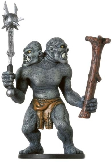 D&D Miniatures - Click to view the stats for Ettin Skirmisher Miniature