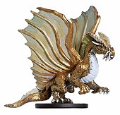 D&D Miniatures - Click to view the stats for Gold Dragon Miniature