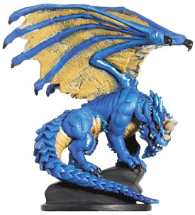 D&D Miniatures - Click to view the stats for Large Blue Dragon Miniature