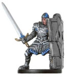 D&D Miniatures - Click to view the stats for Soldier of Thrane Miniature