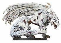 D&D Miniatures - Click to view the stats for Zombie White Dragon Miniature