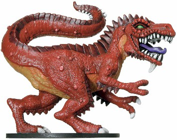 D&D Miniatures - Click to view the stats for Fiendish Tyrannosaurus Miniature