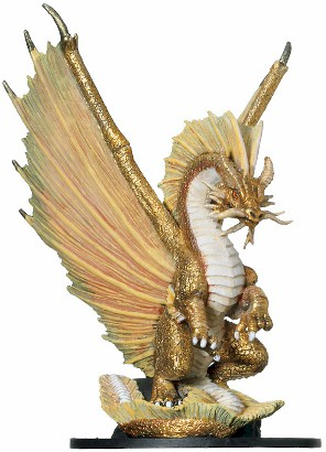 D&D Miniatures - Click to view the stats for Huge Gold Dragon Miniature