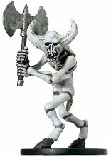 D&D Miniatures - Click to view the stats for Minotaur Skeleton Miniature