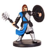 D&D Miniatures - Click to view the stats for Jozan, Cleric of Pelor Miniature