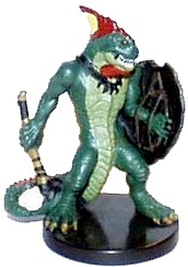 D&D Miniatures - Click to view the stats for Lizardfolk Miniature