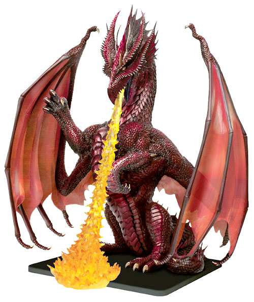 D&D Miniatures - Click to view the stats for Colossal Red Dragon Miniature